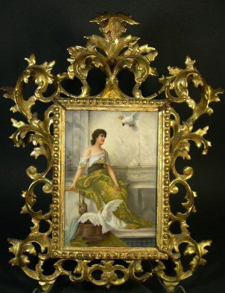 13: after: Conrad Kiesel German (1846-1921) Hand Painte