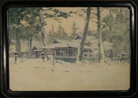"107: Hachiro Nakagawa Japanese (1877-1922) Watercolor """