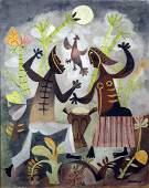 """201: Mario Carreño Cuban (1913-1999) Gouache """"Untitled"""""""