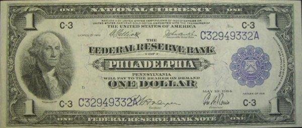 503: Series 1918 One Dollar ($1.00) Philadelphia United