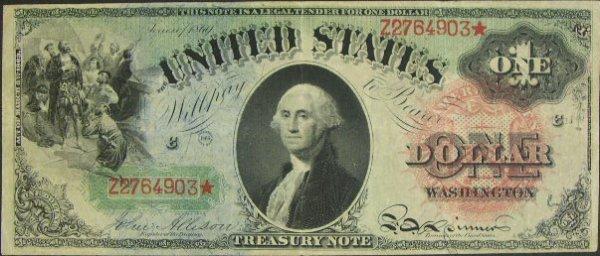 504: Series 1869 One Dollar ($1.00) United States Large