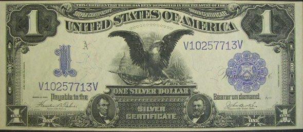 506: Series 1899 One Dollar ($1.00) Black Eagle Silver