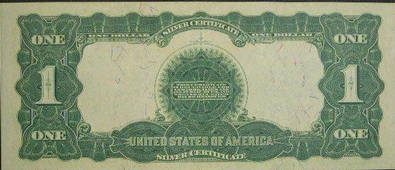 506: Series 1899 One Dollar ($1.00) Black Eagle Silver  - 3