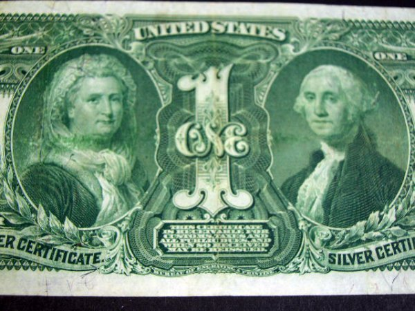 507: Series 1896 One Dollar ($1.00) Educational Silver  - 2