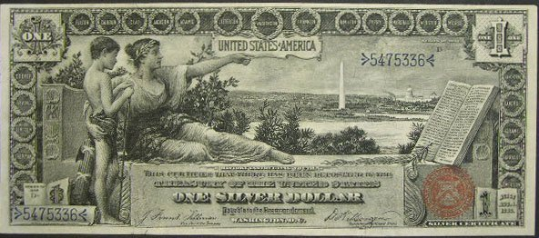507: Series 1896 One Dollar ($1.00) Educational Silver  - 6