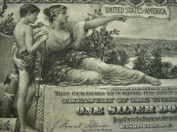 507: Series 1896 One Dollar ($1.00) Educational Silver  - 7