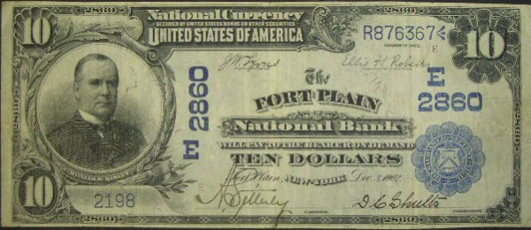 511: Series 1902 Ten Dollar ($10.00) Date Back The Fort