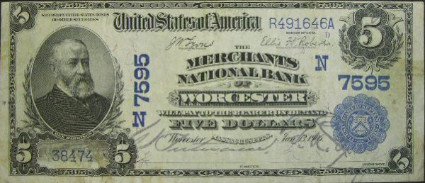 512: Series 1902 Five Dollar ($5.00) Date Back The Merc