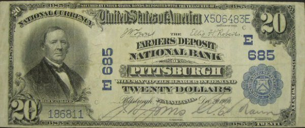 513: Series 1902 Twenty Dollar ($20.00) The Farmers Dep