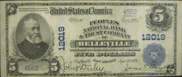 515: Series 1902 Five Dollar ($5.00) Peoples National B