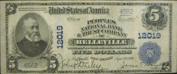 515: Series 1902 Five Dollar ($5.00) Peoples National B