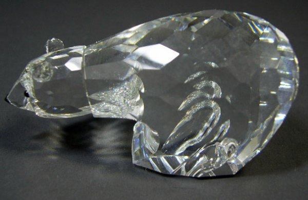 520: Swarovski Crystal Bear. Signed. Has Original Swaro