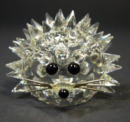 521: Swarovski Crystal Porcupine. Signed. Has Original