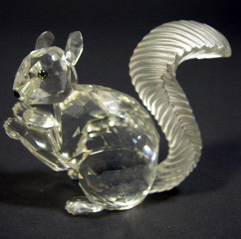 523: Swarovski Crystal Mini Squirrel SCS. Signed. Has O