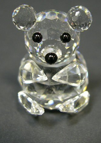 524: Swarovski Crystal Mini Bear. Signed. Has Original
