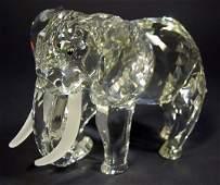 525: Swarovski Crystal Elephant SCS. Signed. Has Origin