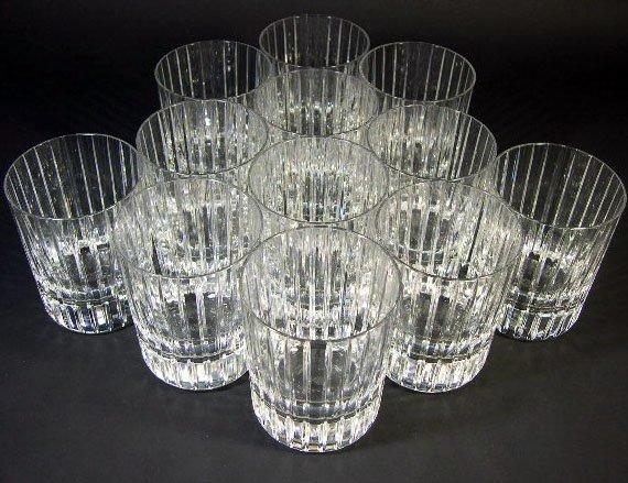734: Set of Twelve (12) Baccarat Crystal Rock Glasses i