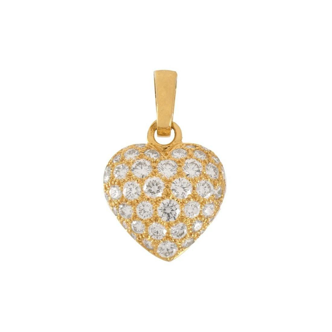 Cartier Diamond and 18K Heart Pendant