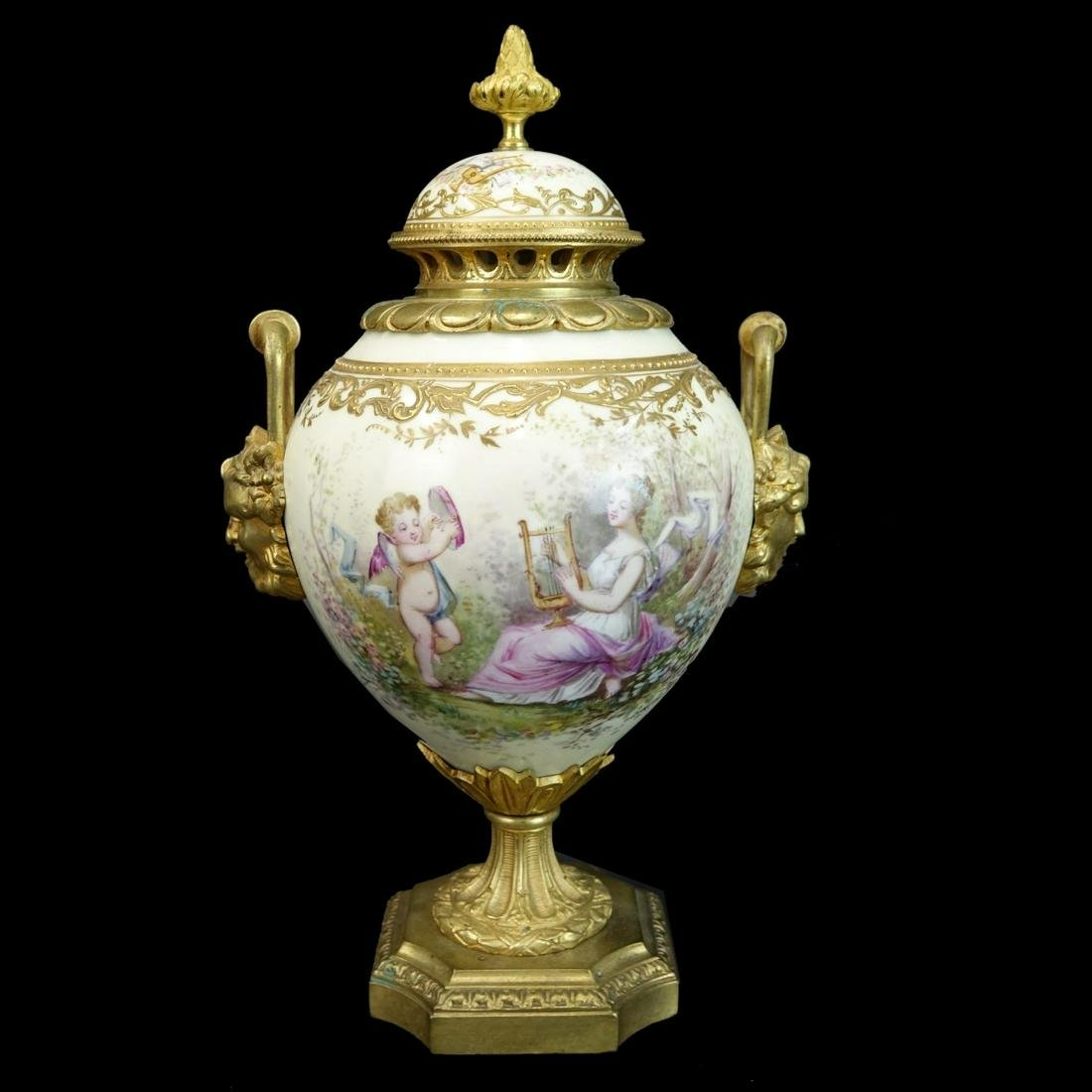 Antique French Sevres Covered Urn