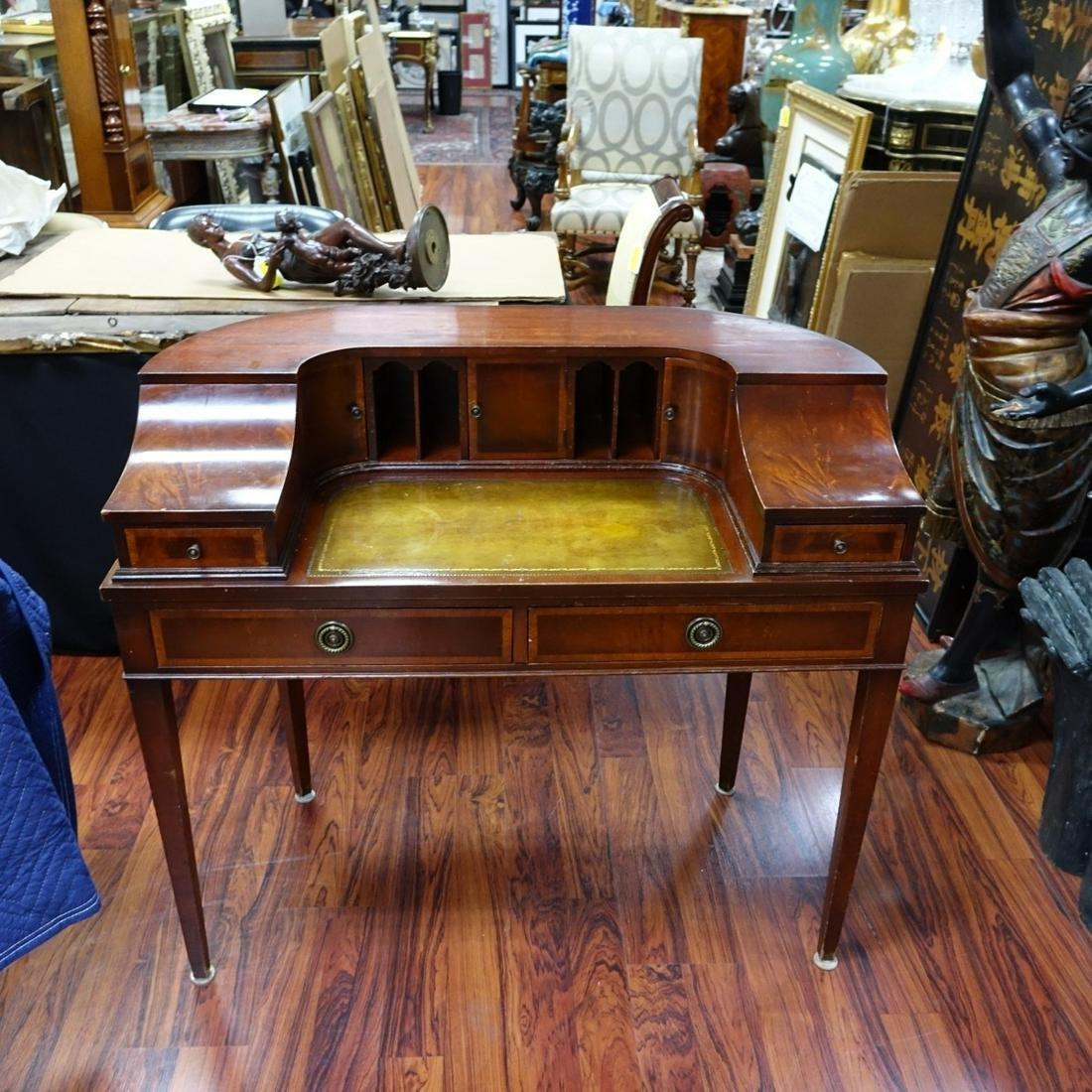 20th C. Sheraton Style Mahogany Carlton Desk