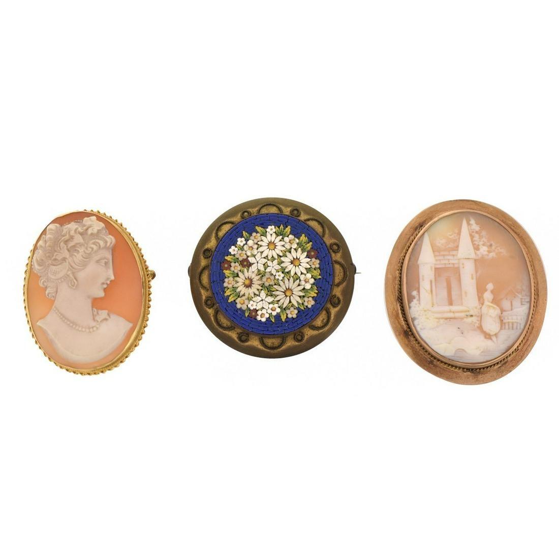 Three Antique Pins