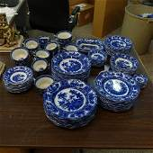 (108) Pc. Antique Kyber Flow Blue Dinnerware