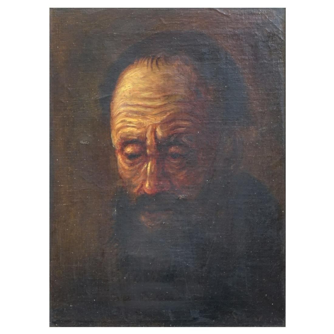 20th C. Continental School Oil on Canvas