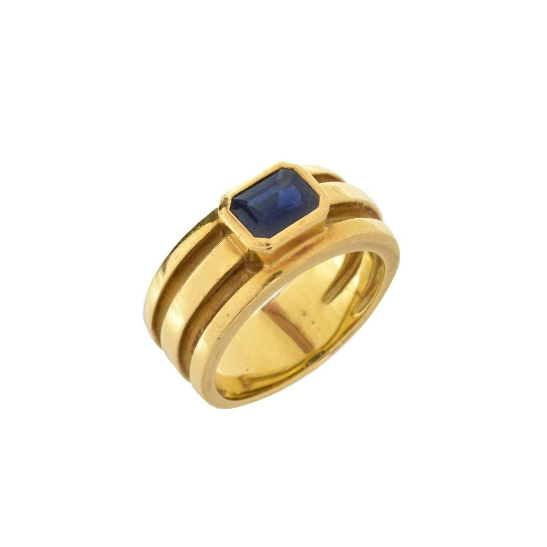 Tiffany & Co Sapphire and 18K Ring