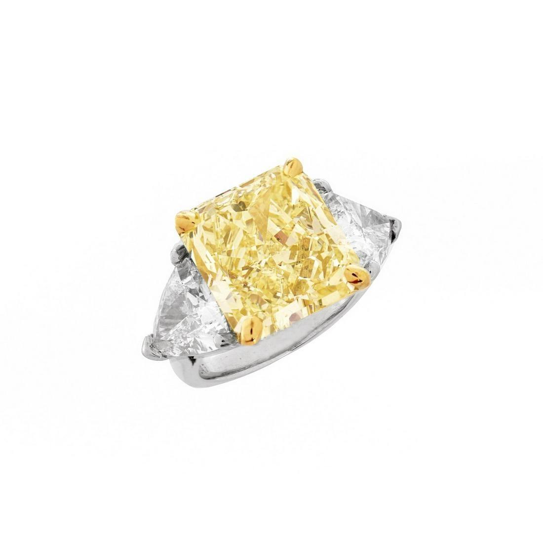14.71ct Fancy Yellow Diamond Engagement Ring