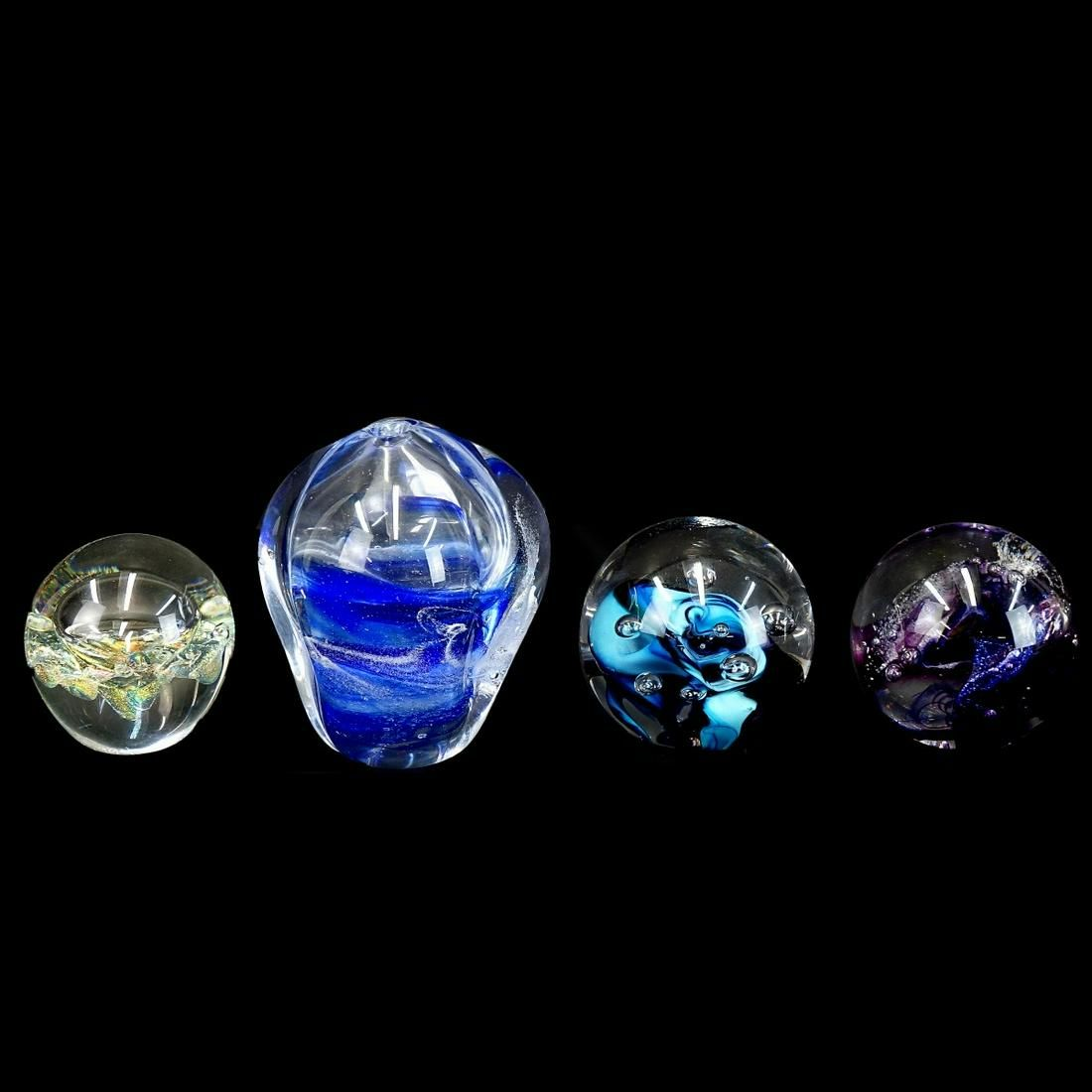 Collection of Four (4) Art Glass Items