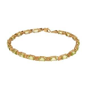 Peridot and 14K Bracelet