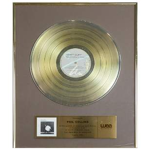 Phil Collins Es Paranza Gold LP Award