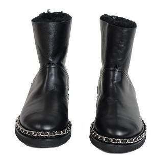 Chanel Cap Toe Winter Boots