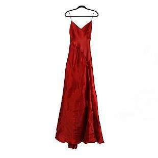 Ralph Lauren Spaghetti Strap Evening Gown