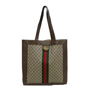 Gucci Monogrammed Ophidia Tote Shoulder Bag