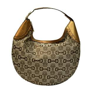 Gucci Horsebit Monogrammed Hobo Bag