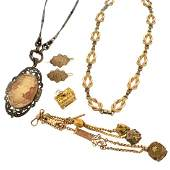 Six Piece Antique Jewelry Lot
