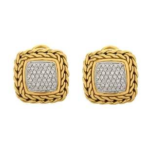 John Hardy Diamond Earrings