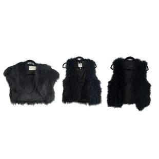 (3) Womens Designer Fur Vests