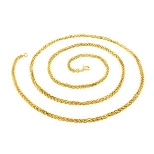 Foxtail Link 18K Chain