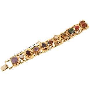 Multi Gemstone and 14K Bracelet