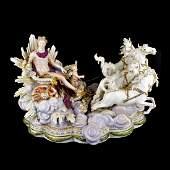 19th C. Meissen Chariot Group