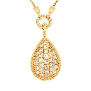 Diamond and 14K Pendant Necklace