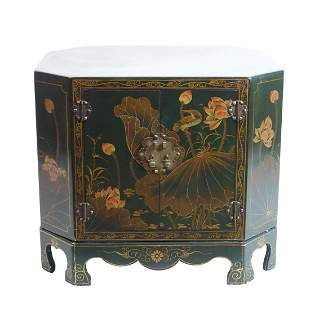 Vintage Japanese Lacquered Side Cabinet