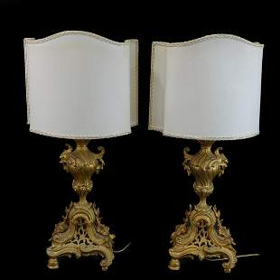 Pair of Louis XVI Style Lamps