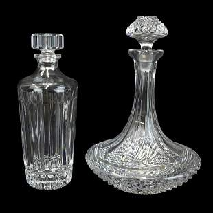 Vintage Cut Crystal Decanters