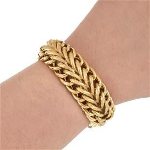 14K Wide Charm Bracelet