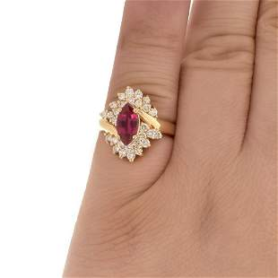 Ruby, Diamond and 14K Ring