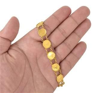 22K Gold Token Bracelet