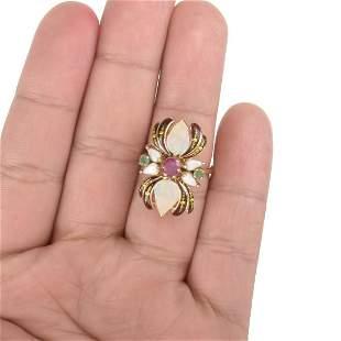 Gemstone and 14K Ring